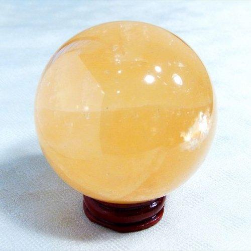 虹入りカルサイト丸玉59mm