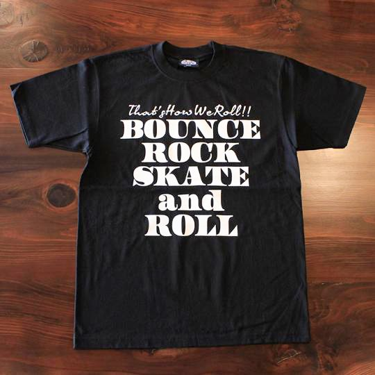 BOUNCE ROCK SKATE and ROLL(バウンス ロック スケート アンド ロール) Tシャツ(ヘビーウェイト) ブラック<img class='new_mark_img2' src='//img.shop-pro.jp/img/new/icons58.gif' style='border:none;display:inline;margin:0px;padding:0px;width:auto;' />
