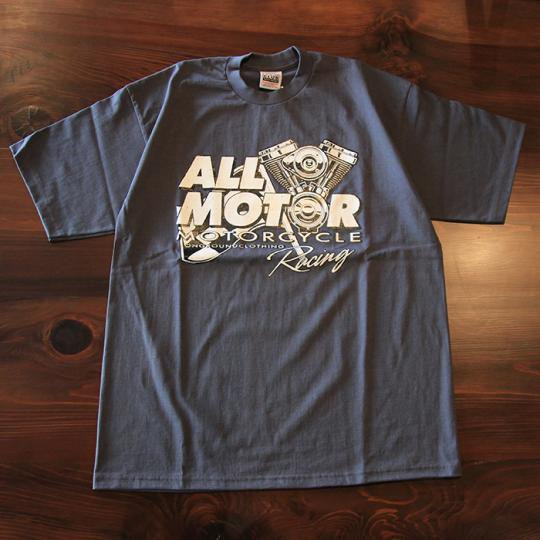 onground clothing all motor tシャツ ガンメタルグレー attract