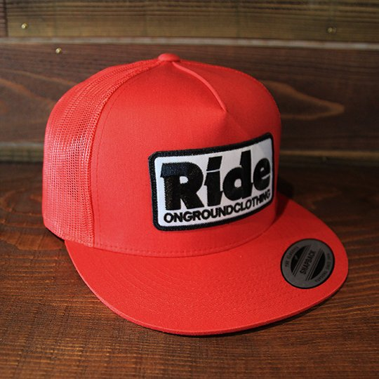 ONGROUNDCLOTHING 【Ride】 2016S/S Trucker Hat キャップ レッド