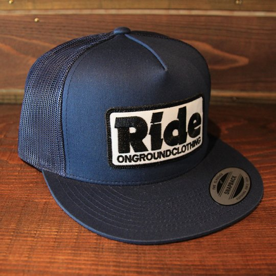ONGROUNDCLOTHING 【Ride】 2016S/S Trucker Hat キャップ ネイビー