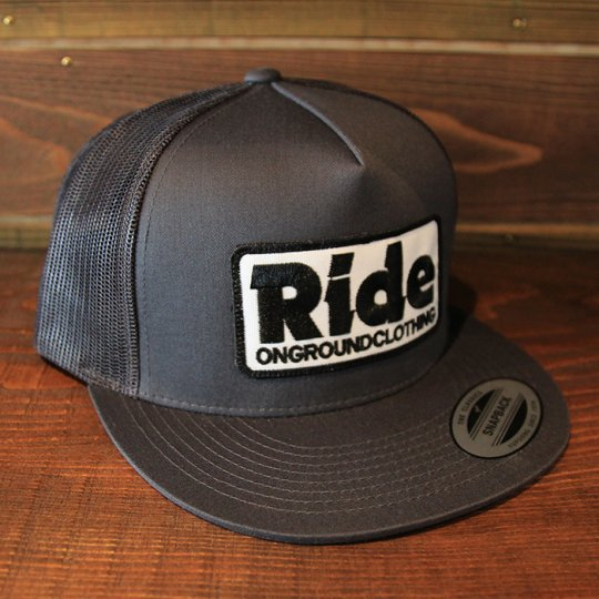 ONGROUNDCLOTHING 【Ride】 2016S/S Trucker Hat キャップ チャコールグレー