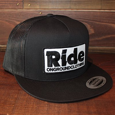 ONGROUNDCLOTHING 【Ride】 2016S/S Trucker Hat キャップ ブラック