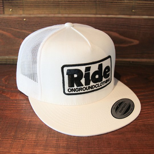 ONGROUNDCLOTHING 【Ride】Trucker Hat メッシュキャップ ホワイト (特別カラー)<img class='new_mark_img2' src='//img.shop-pro.jp/img/new/icons58.gif' style='border:none;display:inline;margin:0px;padding:0px;width:auto;' />