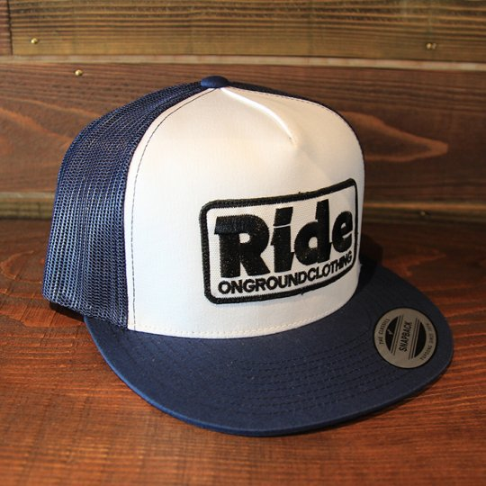 ONGROUNDCLOTHING 【Ride】Trucker Hat メッシュキャップ ネイビー/ホワイト (特別カラー)<img class='new_mark_img2' src='//img.shop-pro.jp/img/new/icons58.gif' style='border:none;display:inline;margin:0px;padding:0px;width:auto;' />