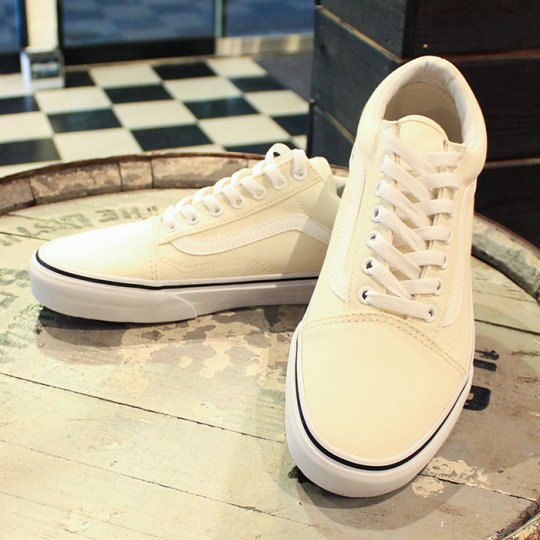 VANS Old Skool �Х� ������ɥ������� CANVAS��Classic White���ۥ磻��
