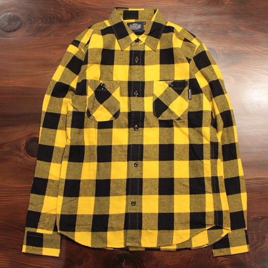 Attract Street Gear 2016A/W Block check shirt ブロックチェックシャツ イエロー