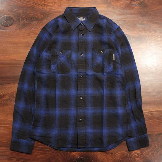 Attract Street Gear 2016A/W��Hombre check shirt������֥�����å�����ġ��֥롼