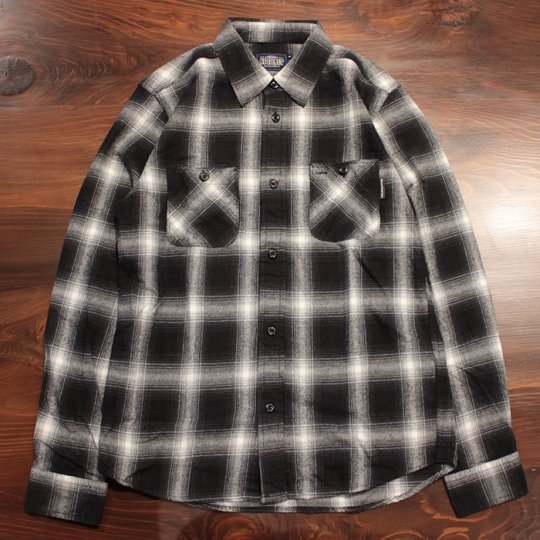 Attract Street Gear Hombre check shirt オンブレチェックシャツ ホワイト