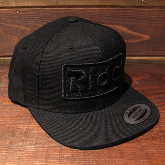 ONGROUNDCLOTHING 【Ride】3D Stitch Logo Standard Snapback ブラックアウト