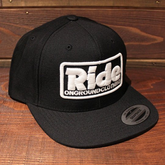 ONGROUNDCLOTHING 【Ride】3D Stitch Logo Standard Snapback ブラック