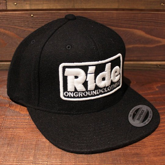 ONGROUNDCLOTHING 【Ride】 2016A/W 3D Stitch Logo Wool Snapback ブラック