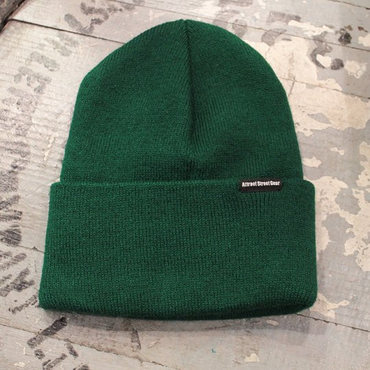 Attract Street Gear Knit Cuf Beanie ビーニー ニット帽 グリーン