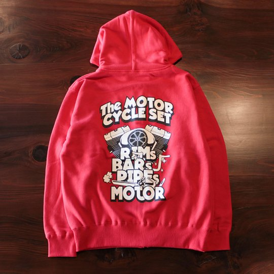 HOGGLIFE STREETGEAR    「The MOTOR CYCLE SET ジップフード」 レッド