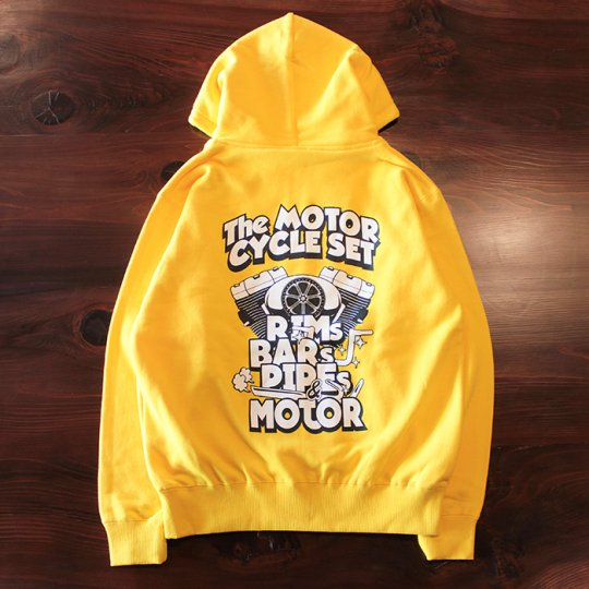 HOGGLIFE STREETGEAR    「The MOTOR CYCLE SET ジップフード」 イエロー