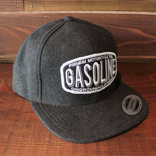 ONGROUNDCLOTHING 【Gasoline】 2016A/W Wool Snapback チャコールグレー