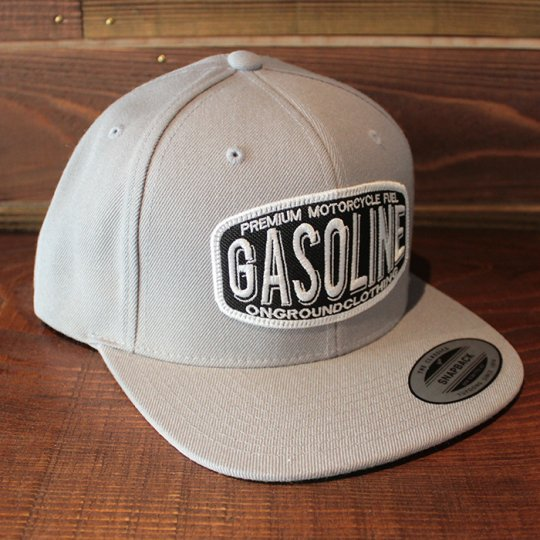 ONGROUNDCLOTHING 【Gasoline】 2016A/W Standard Snapback ライトグレー