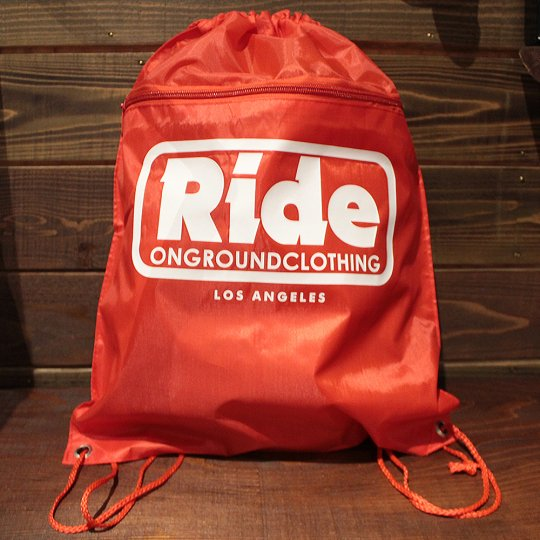 ONGROUNDCLOTHING 【Ride】 2016A/W LogoBag レッド