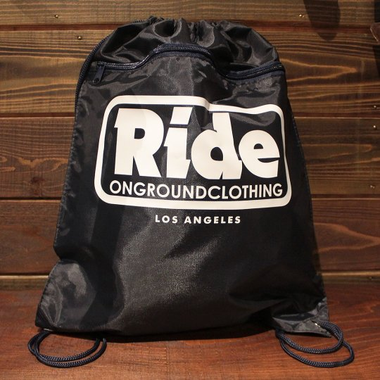 ONGROUNDCLOTHING 【Ride】 2016A/W LogoBag ネイビー