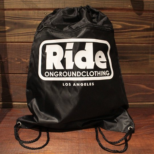 ONGROUNDCLOTHING 【Ride】 2016A/W LogoBag ブラック