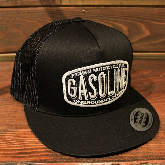ONGROUNDCLOTHING 【Gasoline】Trucker Hat メッシュキャップ ブラック<img class='new_mark_img2' src='//img.shop-pro.jp/img/new/icons58.gif' style='border:none;display:inline;margin:0px;padding:0px;width:auto;' />
