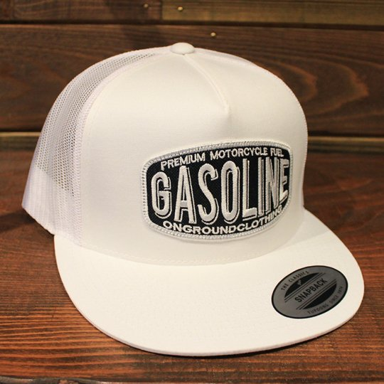 ONGROUNDCLOTHING 【Gasoline】 2017S/S Trucker Hat キャップ ホワイト (特別カラー)