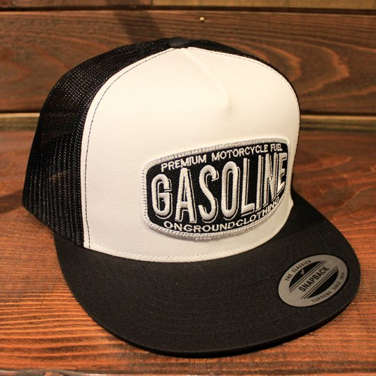 ONGROUNDCLOTHING 【Gasoline】Trucker Hat メッシュキャップ ブラック/ホワイト (特別カラー)<img class='new_mark_img2' src='//img.shop-pro.jp/img/new/icons58.gif' style='border:none;display:inline;margin:0px;padding:0px;width:auto;' />