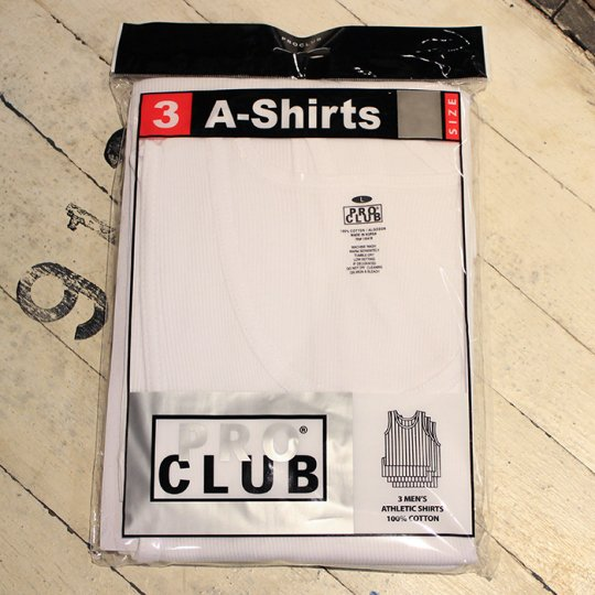 【PROCLUB】 A-Shirts 3Pack - プロクラブ タンクトップ 3枚セット ホワイト<img class='new_mark_img2' src='https://img.shop-pro.jp/img/new/icons58.gif' style='border:none;display:inline;margin:0px;padding:0px;width:auto;' />