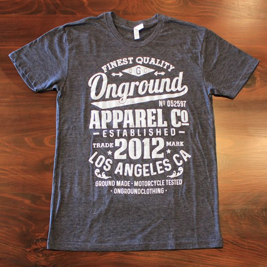 ONGROUNDCLOTHING ONGROUND Apparel Co Soft Touch Classic Tee (ネイビー)