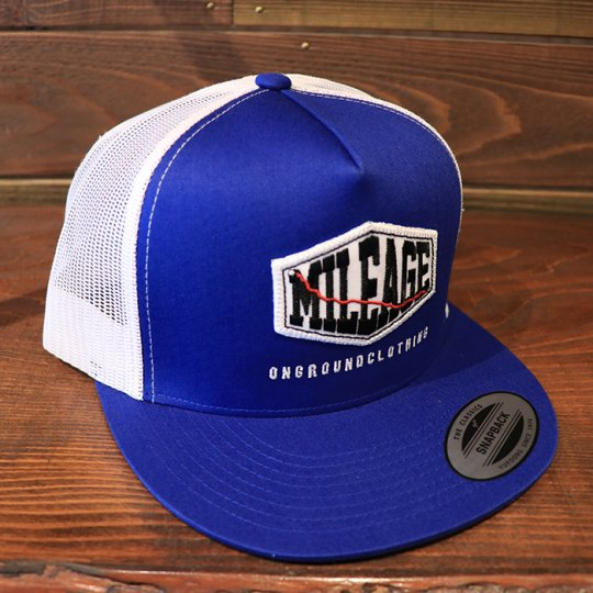 ONGROUNDCLOTHING【Mileage】Trucker Hat Royal Blue/White キャップ ロイヤルブルー/ホワイト<img class='new_mark_img2' src='//img.shop-pro.jp/img/new/icons58.gif' style='border:none;display:inline;margin:0px;padding:0px;width:auto;' />
