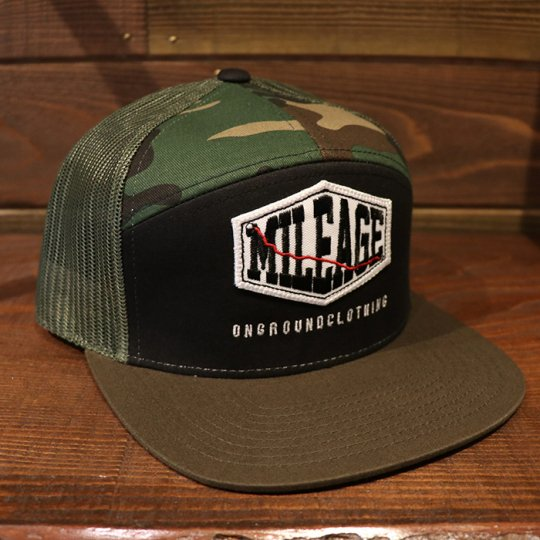 ONGROUNDCLOTHING【Mileage】Ultra Trucker Snap Back (Camo, Blk, Olive) カモ/ブラック/オリーブ