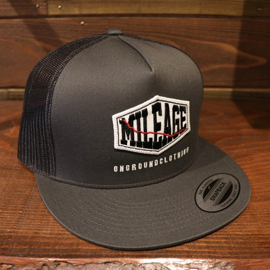 ONGROUNDCLOTHING【Mileage】Trucker Snapback (Grey/Grey) グレー/グレー<img class='new_mark_img2' src='//img.shop-pro.jp/img/new/icons5.gif' style='border:none;display:inline;margin:0px;padding:0px;width:auto;' />