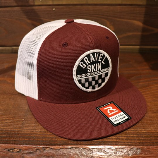ONGROUNDCLOTHING Gravel Skin Rally Edition Baseball Mesh Snapback (Maroon/White)<img class='new_mark_img2' src='//img.shop-pro.jp/img/new/icons5.gif' style='border:none;display:inline;margin:0px;padding:0px;width:auto;' />