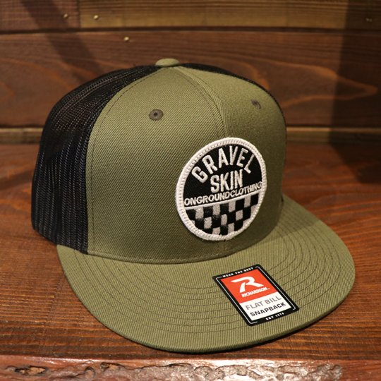 ONGROUNDCLOTHING Gravel Skin Rally Edition Baseball Mesh Snapback (Army Green)
