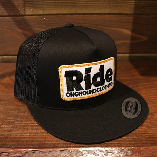 ONGROUNDCLOTHING 【Ride】Trucker Hat (Black/Gold)