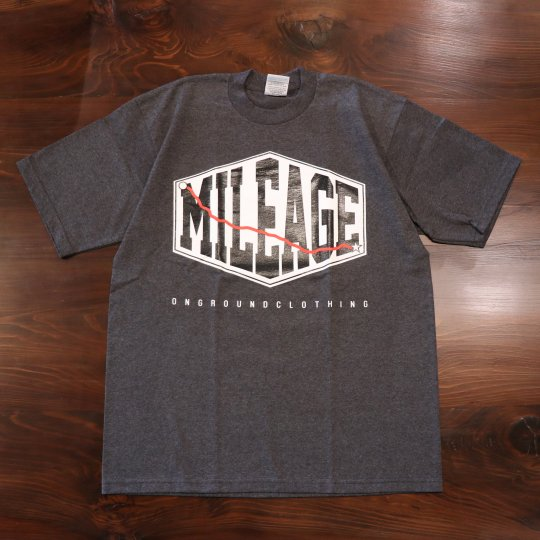 ONGROUNDCLOTHING Mileage Tee (Heather Charcoal Grey) ヘザーチャコールグレー
