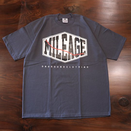 ONGROUNDCLOTHING Mileage Tee (Gun Metal Grey) ガンメタルグレー