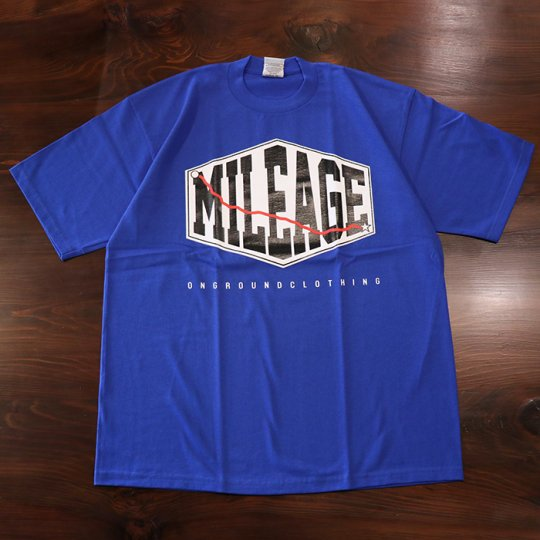 ONGROUNDCLOTHING Mileage Tee (Royal Blue) ロイヤルブルー<img class='new_mark_img2' src='//img.shop-pro.jp/img/new/icons58.gif' style='border:none;display:inline;margin:0px;padding:0px;width:auto;' />