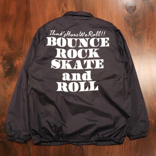 【BOUNCE ROCK SKATE and ROLL / バウンス ロック スケート アンド ロール】ナイロンコーチジャケット(裏ボア)ネイビー