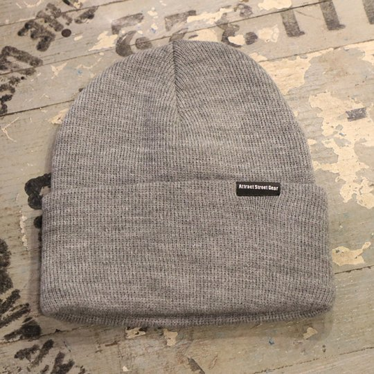 Attract Street Gear Knit Cuf Beanie ビーニー ニット帽 グレー