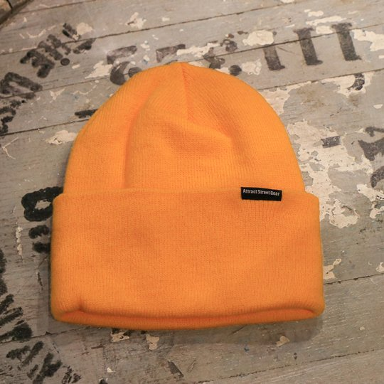 Attract Street Gear Knit Cuf Beanie ビーニー ニット帽 ゴールド