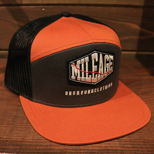 ONGROUNDCLOTHING【Mileage】Ultra Trucker Snap Back (Orange/Grey/Black) オレンジ/グレー/ブラック