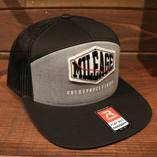 ONGROUNDCLOTHING【Mileage】Ultra Trucker Snap Back (Light Grey/Black) ライトグレー/ブラック