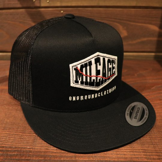 ONGROUNDCLOTHING【Mileage】Trucker Snapback (Black/Black)ブラック/ブラック