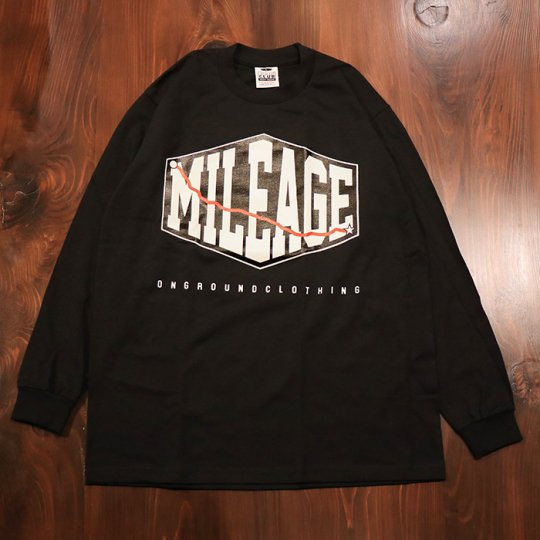 ONGROUNDCLOTHING【Mileage】 P.M. Edition Long Sleeves (Black)ブラック