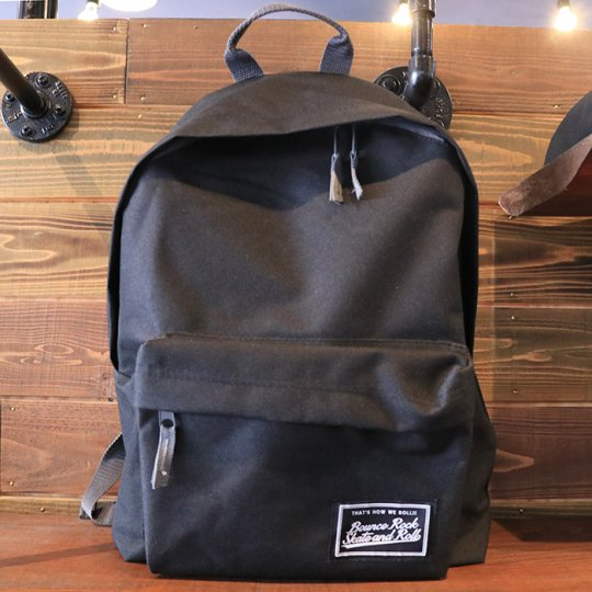 【BOUNCE ROCK SKATE and ROLL / バウンス ロック スケート アンド ロール】Backpack バックパック リュック ブラック