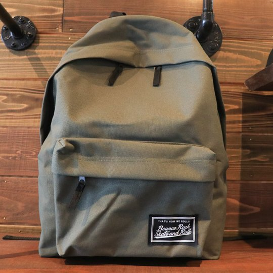 【BOUNCE ROCK SKATE and ROLL / バウンス ロック スケート アンド ロール】Backpack バックパック リュック オリーブ