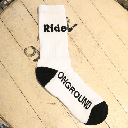 ONGROUNDCLOTHING【Ride】Logo Cushion Crew Socks ソックス