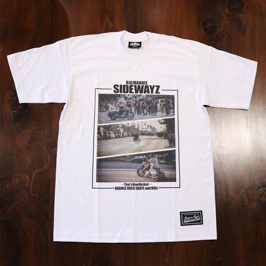 BigMannie Official 【SIDEWAYZ Tシャツ】(ヘビーウェイト)ホワイト