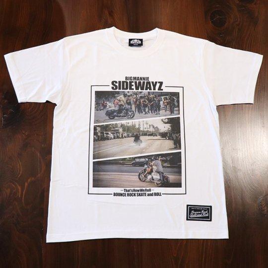 BigMannie Official 【SIDEWAYZ Tシャツ】(ソフト)ホワイト